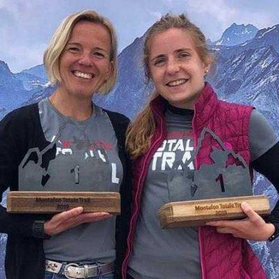 Petra Friedrich und Charlotte Holly beim Montafon Totale Trail